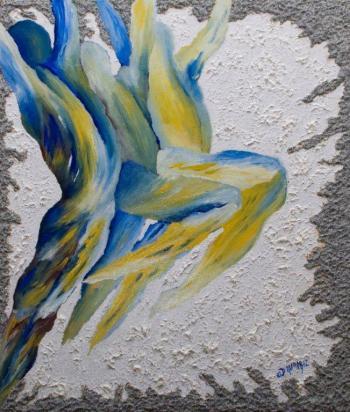 titolo danza e colori tecnica olio e acrilico su tavola dimensione cm 50 x 60