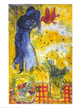 chagall-lovers-and-flowers