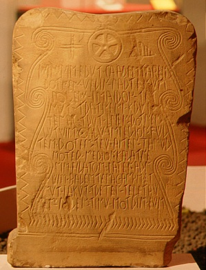 stele da Novilara da Novilara museo Pigorini di Roma